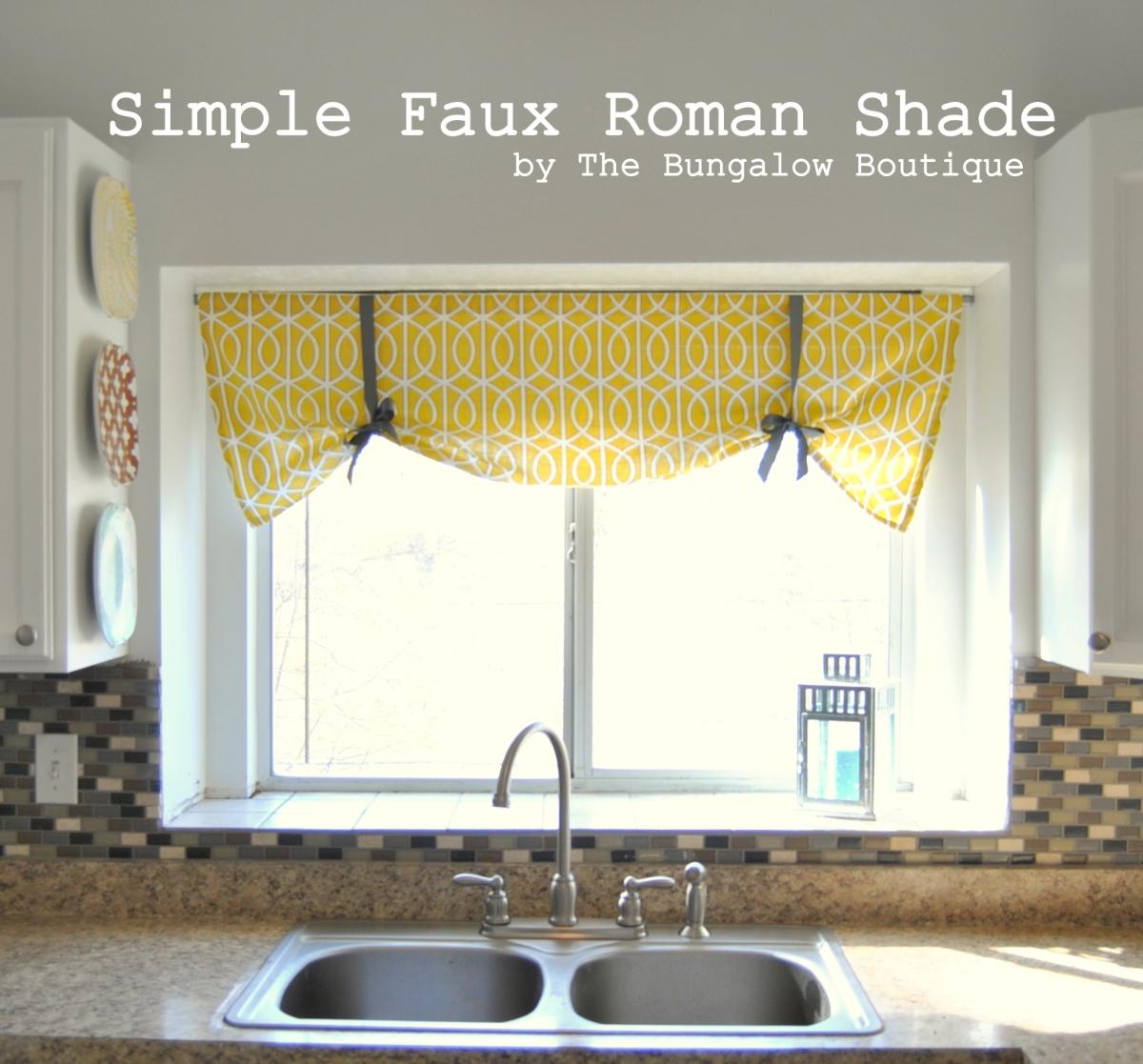 Simpe-faux-roman-shade